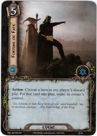 Lord of the Rings: The Card Game [LCG] Core Set Single Card Rare #54 Fortune or Fate