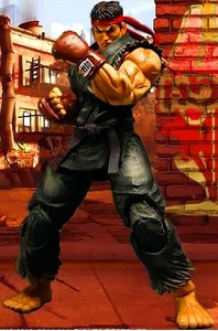 Super Street Fighter IV Square Enix Play Arts Kai Action Figure Ryu [Black Variant] Pre-Order ships March