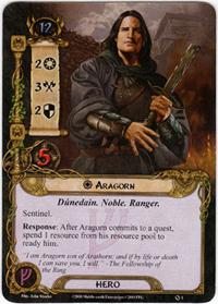Lord of the Rings: The Card Game [LCG] Core Set Single Card Rare #1 Aragorn