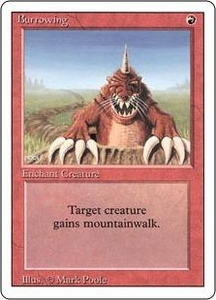 Magic the Gathering Revised Edition Single Card Uncommon Burrowing