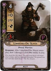 Lord of the Rings: The Card Game [LCG] Core Set Single Card Uncommon #18 Longbeard Orc Slayer