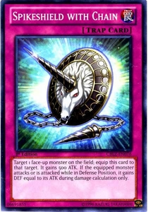 YuGiOh Zexal Cosmo Blazer Single Card Common CBLZ-EN076 Spikeshield with Chain