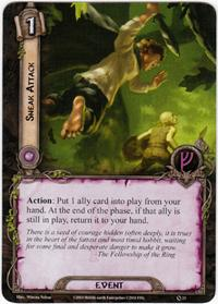 Lord of the Rings: The Card Game [LCG] Core Set Single Card Uncommon #23 Sneak Attack