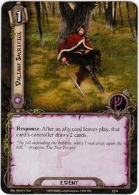 Lord of the Rings: The Card Game [LCG] Core Set Single Card Uncommon #24 Valiant Sacrifice