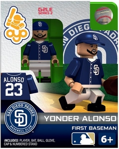 OYO Baseball MLB Generation 2 Building Brick Minifigure Yonder Alonso [San Diego Padres] Pre-Order ships March