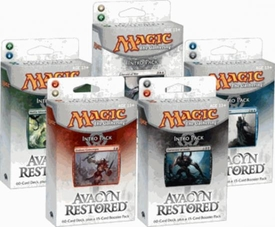 Magic the Gathering Avacyn Restored Set of 5 Theme Deck Intro Packs