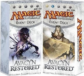 Magic the Gathering Avacyn Restored Set of Both Event Decks [Death's Encroach & Humanity's Vengeance]