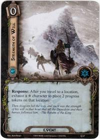 Lord of the Rings: The Card Game [LCG] Core Set Single Card Uncommon #47 Strength of WiIl