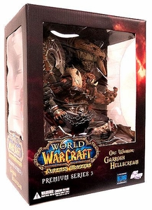 World of Warcraft Premium Series 3 Action Figure Garrosh Hellscream [Orc Warchief] Damaged Package Mint Contents!