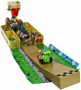 KooKoo Birds Krack-Up Cars Carry Case with 20 Inch Action Launch Ramp