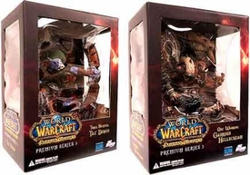 World of Warcraft Premium Series 3 Set of Both Action Figures [Garrosh Hellscream & Taz'Dingo]
