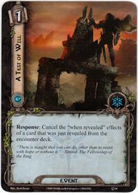 Lord of the Rings: The Card Game [LCG] Core Set Single Card Uncommon #50 A Test of Will