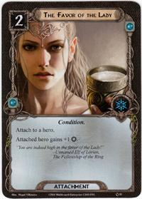 Lord of the Rings: The Card Game [LCG] Core Set Single Card Uncommon #55 The Favor of the Lady
