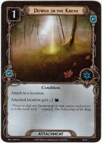 Lord of the Rings: The Card Game [LCG] Core Set Single Card Uncommon #56 Power in the Earth