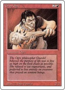 Magic the Gathering Revised Edition Single Card Common Gray Ogre