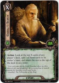 Lord of the Rings: The Card Game [LCG] Core Set Single Card Uncommon #67 Gandalf's Search