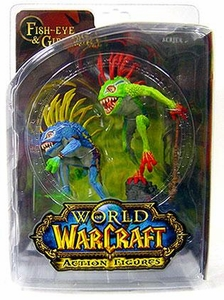 World of Warcraft DC Unlimited Series 4 Action Figure Murloc 2-Pack Fish-Eye & Gibbergil [Green Figure On Top]