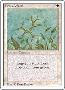 Magic the Gathering Revised Edition Single Card Uncommon Green Ward