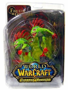 World of Warcraft DC Unlimited Series 4 Action Figure Murloc 2-Pack Fish-Eye & Gibbergil [Both Green Variant]