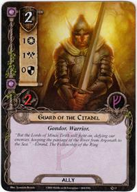 Lord of the Rings: The Card Game [LCG] Core Set Single Card Common #13 Gaurd of the Citadel [Set of 3]