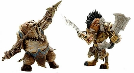 World of Warcraft Premium Series 1 Set of Both Action Figures [Gangris Riverpaw & Tavru Akua]