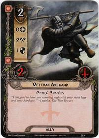 Lord of the Rings: The Card Game [LCG] Core Set Single Card Common #28 Veteran Axehand [Set of 3]