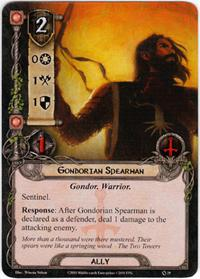 Lord of the Rings: The Card Game [LCG] Core Set Single Card Common #29 Gondorian Spearman [Set of 3]