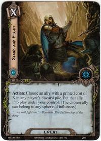 Lord of the Rings: The Card Game [LCG] Core Set Single Card Common #51 Stand and Fight [Set of 3]