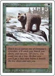 Magic the Gathering Revised Edition Single Card Common Grizzly Bears