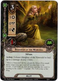 Lord of the Rings: The Card Game [LCG] Core Set Single Card Common #58 Daughter of the Nimrodel [Set of 3]