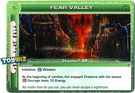 Chaotic Trading Card Game OP Organized Play Promo Single Card Uncommon #OP1-19 Fear Valley
