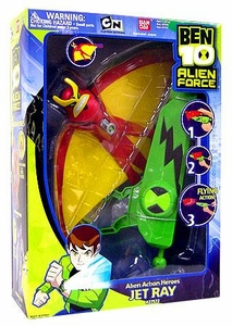 Ben 10 (Ten) Deluxe 10 Inch Alien Action Heroes Figure Jetray