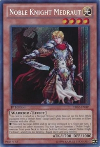 YuGiOh Zexal Cosmo Blazer Single Card Secret Rare CBLZ-EN081 Noble Knight Medraut