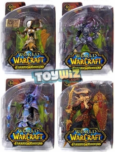 World of Warcraft DC Unlimited Series 3 Set of 4 Action Figures [Blood Elf Paladin, Draenei Mage, Undead Rogue & Human Priestess]