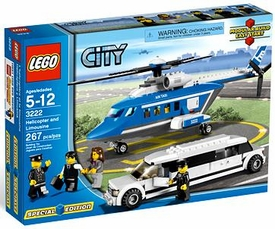 LEGO City Exclusive Set #3222 Helicopter & Limousine