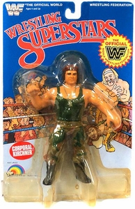 WWF LJN Wrestling Superstars Corporal Kirchner Damaged Package, Mint Contents!