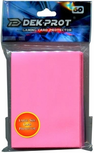 Dek Prot Card Supplies Standard Card Sleeves Coral Pink [60 Count]