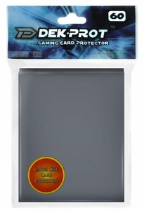 Dek Prot Card Supplies Standard Card Sleeves Darksteel Gray [60 Count]