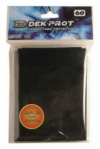 Dek Prot Card Supplies Standard Card Sleeves Midnight Black [60 Count]