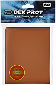 Dek Prot Card Supplies Standard Card Sleeves Mocha Brown [60 Count]