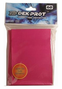 Dek Prot Card Supplies Standard Card Sleeves Rose Red [60 Count]