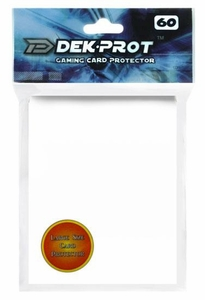 Dek Prot Card Supplies Standard Card Sleeves Starlight White [60 Count]