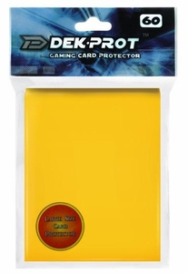 Dek Prot Card Supplies Standard Card Sleeves Sunflower Yellow [60 Count]