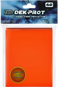 Dek Prot Card Supplies Standard Card Sleeves Tulip Orange [60 Count]