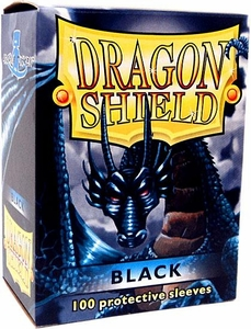 Dragon Shield Card Supplies Standard Card Sleeves Black [100 Count]