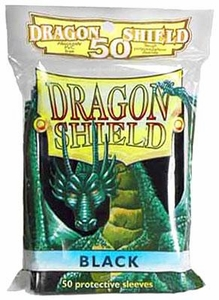 Dragon Shield Card Supplies Standard Card Sleeves Black [50 Count]