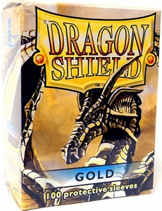 Dragon Shield Card Supplies Standard Card Sleeves Gold [100 Count]