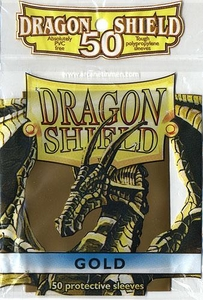 Dragon Shield Card Supplies Standard Card Sleeves Gold [50 Count]