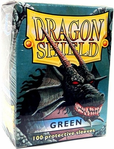 Dragon Shield Card Supplies Standard Card Sleeves Green [100 Count]