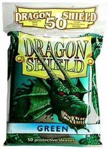 Dragon Shield Card Supplies Standard Card Sleeves Green [50 Count]
